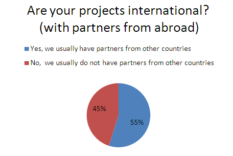 International vs. non-international projects